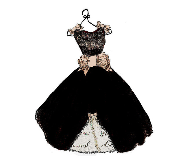 french dress in black lace