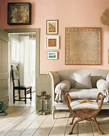 pale pink and gray room martha stewart