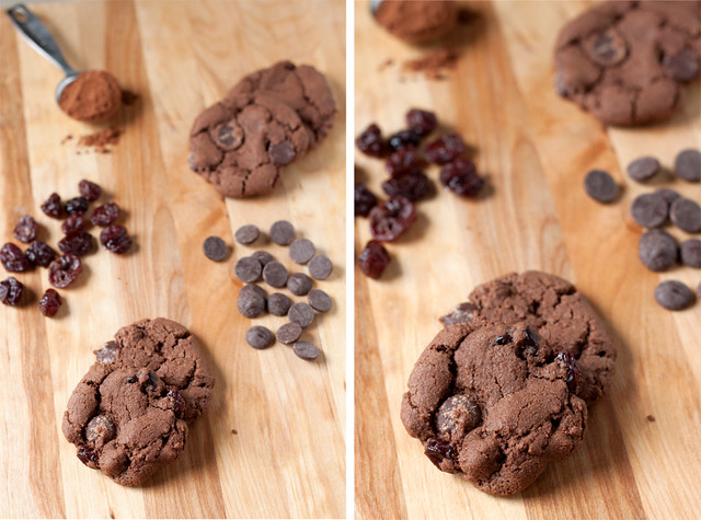 Double Chocolate-Cherry Cookies