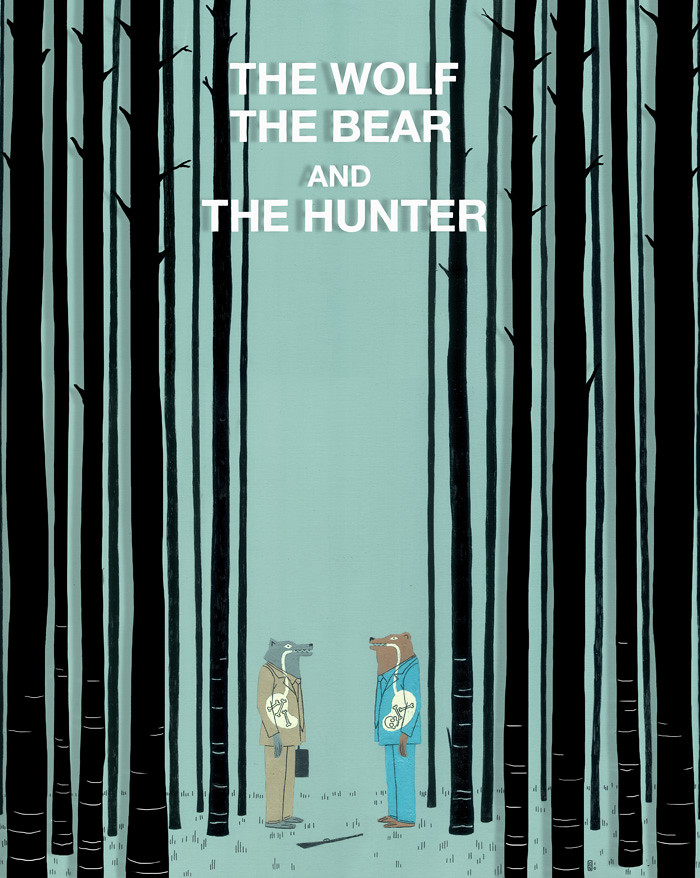 The Wolf, The Bear And The Hunter