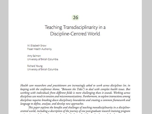 Teaching Transdisciplinarity