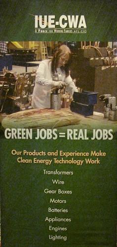 IUE-CWA Green Jobs poster