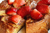 French Toast (ralph and jenny) Tags: nyc newyorkcity vacation food newyork breakfast hotel strawberry berries strawberries roomservice gorillapod briochefrenchtoast jumeirahessexhouse nikond7000 af60mmf28g