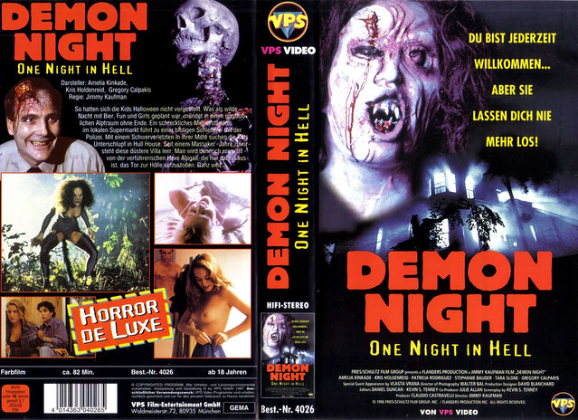 Demon Night (VHS Box Art)