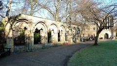Archbishop's Palace ruins Dean's Park York Minster York (woodytyke) Tags: park york old uk 2 two england building tree green english heritage history grass wall architecture century yard garden de photography photo memorial ruins arch britain library military yorkshire wwii north arcade archive conservation kingdom palace ww2 pont rememberance british roger minster isles worldwar deans archbishop leveque archbishops woodytyke deansgarden