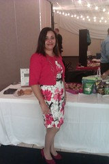 Me, The Cooking Activist, in front of my table