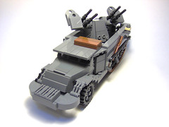 "WW2-Era M3 Halftrack With Quad 50 Cal. ""Maxon Mount"" (Carpet lego) Tags: us lego ww2 allies allied"