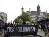 "fuck colonialism banner <a style=""margin-left:10px; font-size:0.8em;"" href=""http://www.flickr.com/photos/78655115@N05/35320387090/"" target=""_blank"">@flickr</a>"