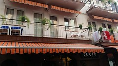 El Cid Hotel (Terry Hassan) Tags: spain catalonia sitges elcid hotel budget balcony room street