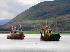 Rain Ullapool (Ian Robin Jackson) Tags: ullapool boats sony zeiss scotland ports rain water mountains sky clouds weather sea