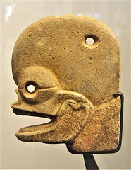 """""""Axe as skull"""" - volcanic stone (600-800 AD) - Maya culture - from Guatemala - """"The World that wasn't there / Pre-Columbian art in the Ligabue Collections"""" - Temporary Exhibition, up October 30, 2017 - Naples, Archaeological Museum (Carlo Raso) Tags: axe skull volcanicstone maya fromguatemala columbia ligabue naples archaeologicalmuseum"""