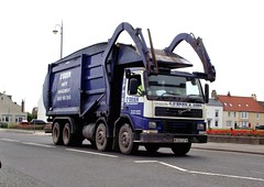 Volvo skip lorry. (steven.barker57) Tags: england dumpster volvo north bin east management lorry obrien waste refuse recycle skip seaton hire carew hartlepol