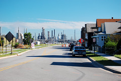 refining the heart of community (reallyboring) Tags: house unitedstates indiana bp refinery whiting in