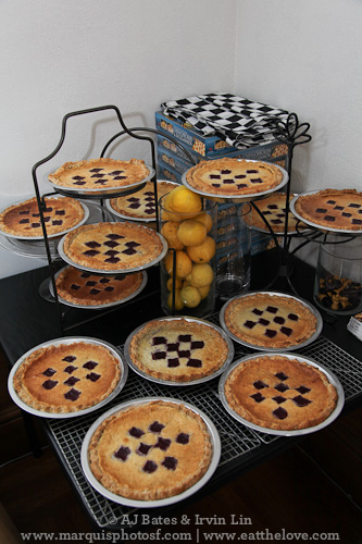 Some of the pies I made for the contest