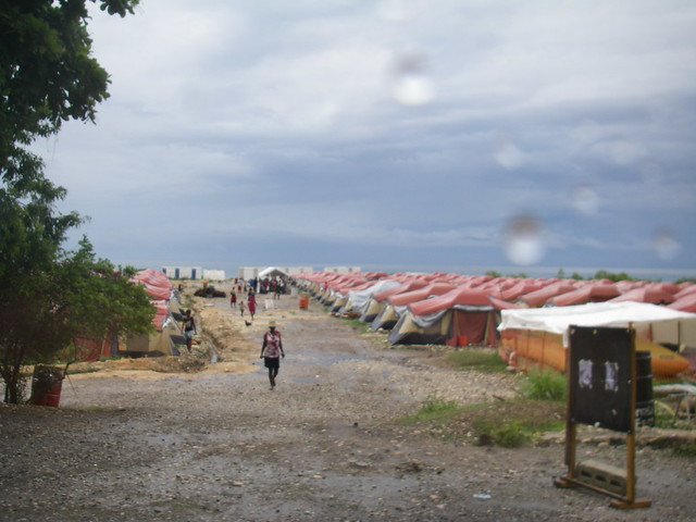 Tents in Haiti