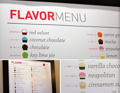 Cupcake Chic Flavor Menu - Orem Cupcake Shop in Utah