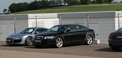 audi mule (Tom Naaijkens) Tags: summer germany spyshot audi mule v10 a6 2010 r8 nurburgring nurburg rs5