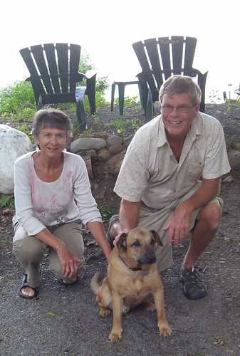 Dan and Lorraine with Arnold the Wonder Dog