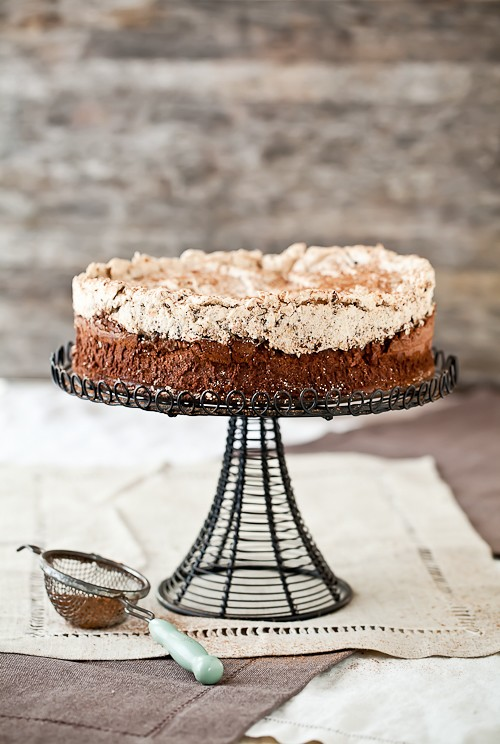 Chocolate & Hazelnut Meringue Cake