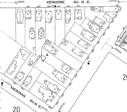 1913 Sanborn fire insurance map (detail)