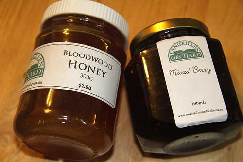 Honey and Mixe Berry Jam