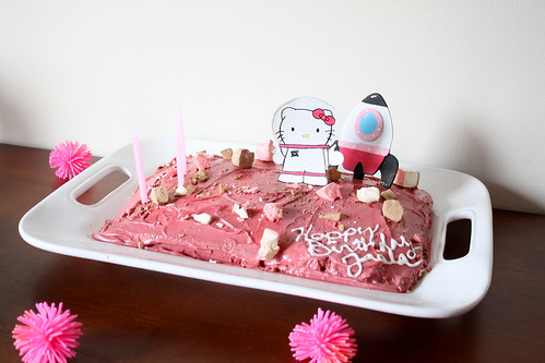 Outer Space Hello Kitty Cake