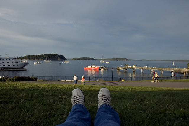 I WISH I was sitting in Bar Harbor instead of my back yard...