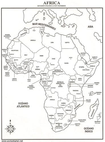Africa - División política con nombres