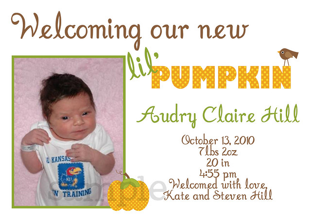 pumpkin photo announcement