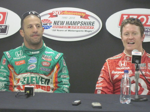 Tony Kanaan and Scott Dixon