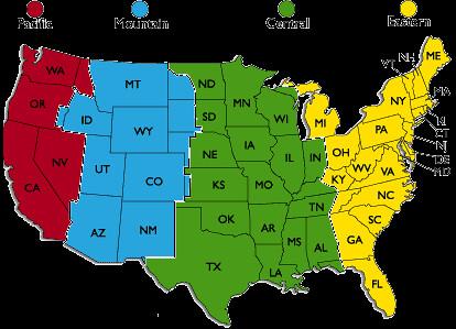 Japanese time zone Converter map united states pdf