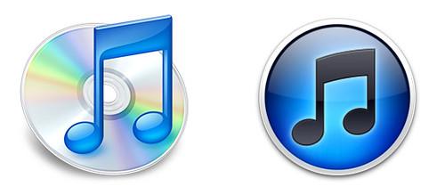 iTunes 9 Vs. iTune 10 logos