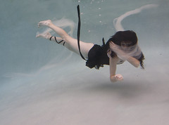 Metamorphosis (Taylor Dawn Fortune) Tags: portrait girl swimming ribbons underwater graceful tulle