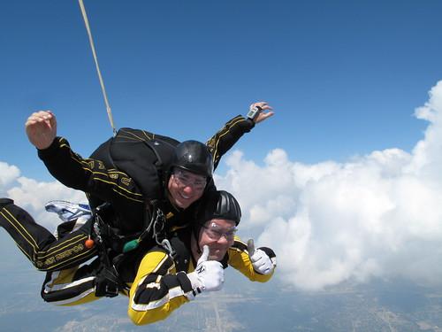Scott Ellis and John Ewald Rocketing Toward the Earth at 120mph