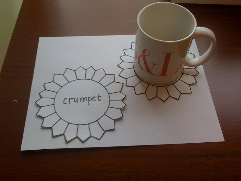 Mug Rug Swap 1 - Sketch with Mug