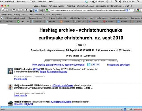 twitter hashtag wars: #christchurchquake (3pm)