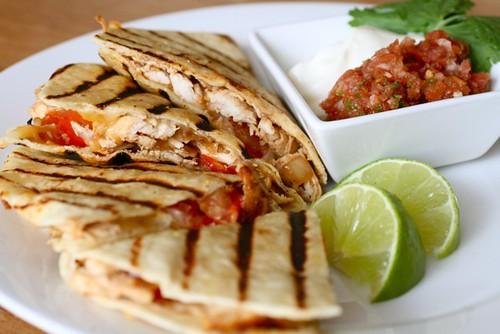 Grilled Chicken Quesadillas | Annie's Eats