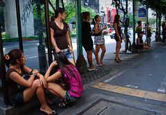 spots on the pavement II (Adrian in Bangkok) Tags: thailand asia bangkok whores prostitutes hookers hookerrow