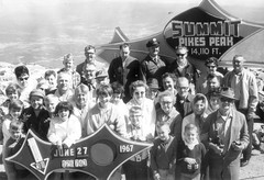 Min and Al Anderson on Pikes Peak, 1967 (jkerssen) Tags: tourists 1960s pikespike