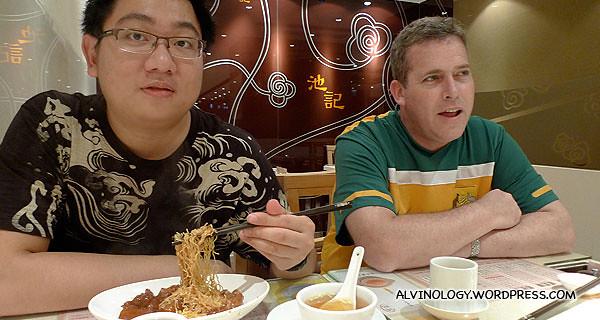 Enjoying my noodle :)