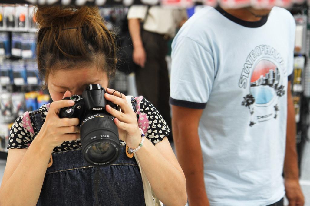 Girl with Nikon