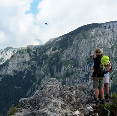 Taking a snapshot of the Kehlsteinhaus (Bn) Tags: mountains germany bavaria berchtesgaden chopper hiking snapshot ridge helicopter eaglesnest kehlsteinhaus thealps fatherandson teahouse touristattraction bavarianalps takingaphoto adelaarsnest jennermountain southofgermany hitlersteahouse mooslahnerkopf historicallegacy 1834m kehlsteinstrasse fiftiethbirthdaypresent mountainelevatorsystem reachedbyanelevator linkedviaatunnel