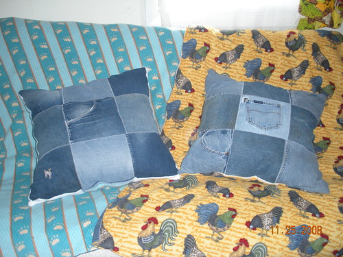 Fleece Denim Blankets & Pillows