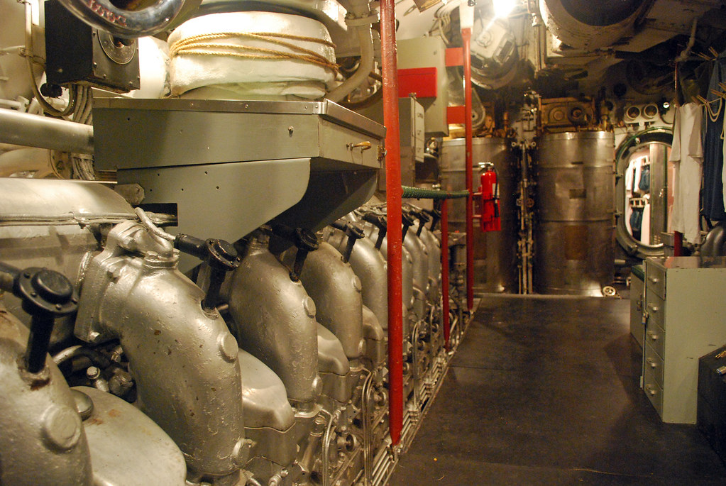USS Cod Engine Room