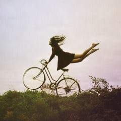 the cyclist. (karrah.kobus) Tags: me girl field bike self cycling fly 365 float sohard mybodyfeelslikejellocauseofthispose