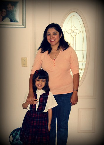 1st day of Kinder w/ Mom