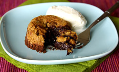Chocolate Chip Cookie Lava Cake (Bougi) Tags: food cookies cake recipe dessert baking sweet chocolate homemade chocolatechip