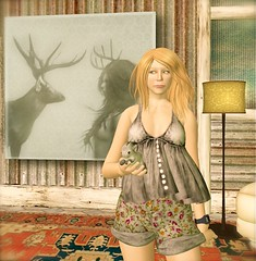 ...thanks Amelie!  (lindini2) Tags: bunny home painting hair interior sl secondlife shorts scribble camisole milkmotion lelutka oyakin amelieknelstrom