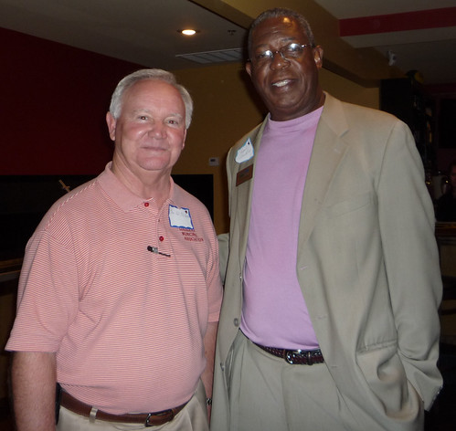Louisiana Municipal Association Executive Director Tom Ed McHugh (Left) and Rural Development State Director, Clarence W. Hawkins at a recent outreach meeting in Louisiana.
