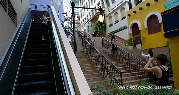 Long escalator we went up while shopping around